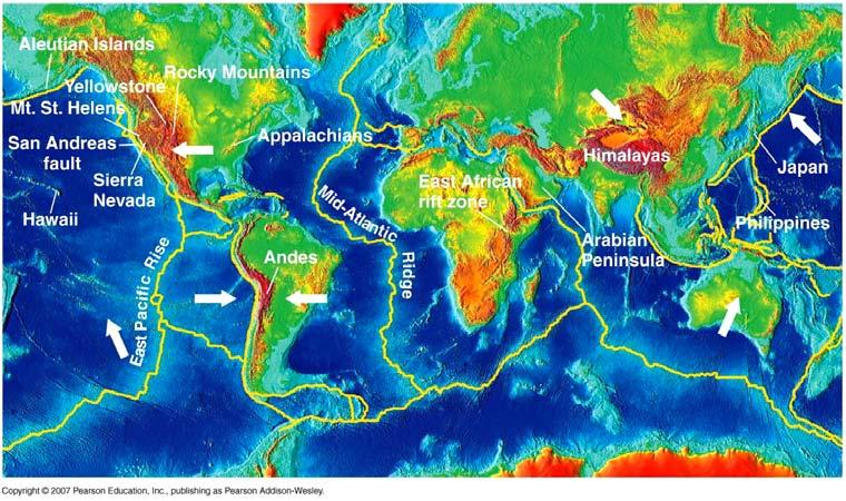 Plate tectonics - largely responsible for the long-term climate stability that has allowed life to