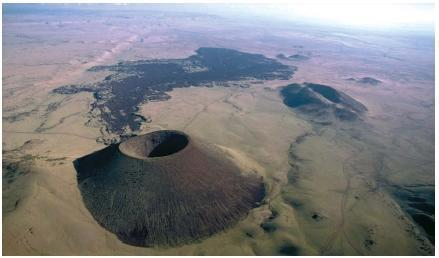 Volcanic Types 2) Cinder Cones Cinder cone is made of solid fragments ejected from