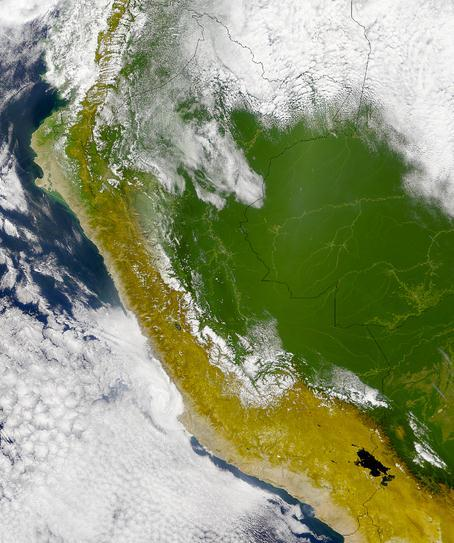 Peru is located in the central and western part of South