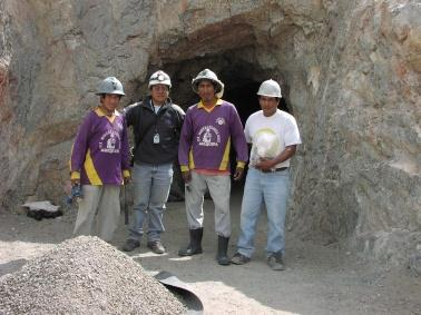 either the small scale mining and the traditional mining,