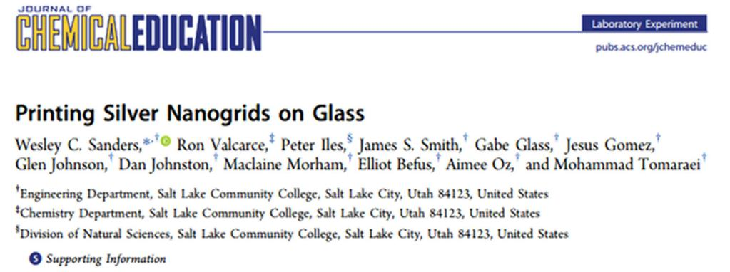 Publication Sanders. W. C., Valcarce, R., Iles, P.