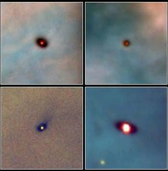 visible light infrared protostars not seen in visible light Radiation evaporates the surface,