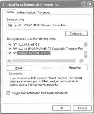 (5) Click on OK on all screens and close dialog boxes. Obtaining IP Address automatically (1) In windows, go to START CONTROL PANEL NETWORK CONNECTIONS LOCAL AREA CONNECTION.