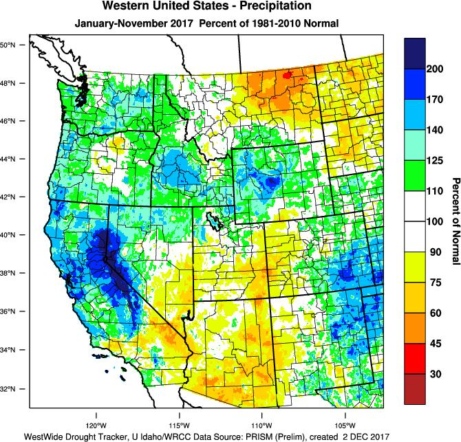 Eastern Washington and Oregon remain the coolest year to date area in the entire country.