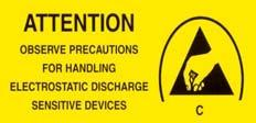 Attention : Electric Static Discharge (ESD) Protection The symbol shown on the page herein to introduce Electro-Optical Characteristics.