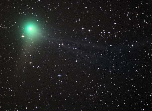 Comets grow tail when