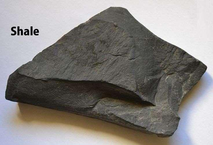 Shale is a fine-grained, clastic sedimentary rock composed of mud that is a mix of tiny flakes