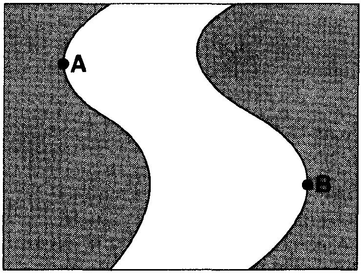 8. The landscape diagram below shows a fan-shaped pattern of sediment deposits. Base your answers to questions 10 and 11 on the diagram below, which shows a meandering stream.