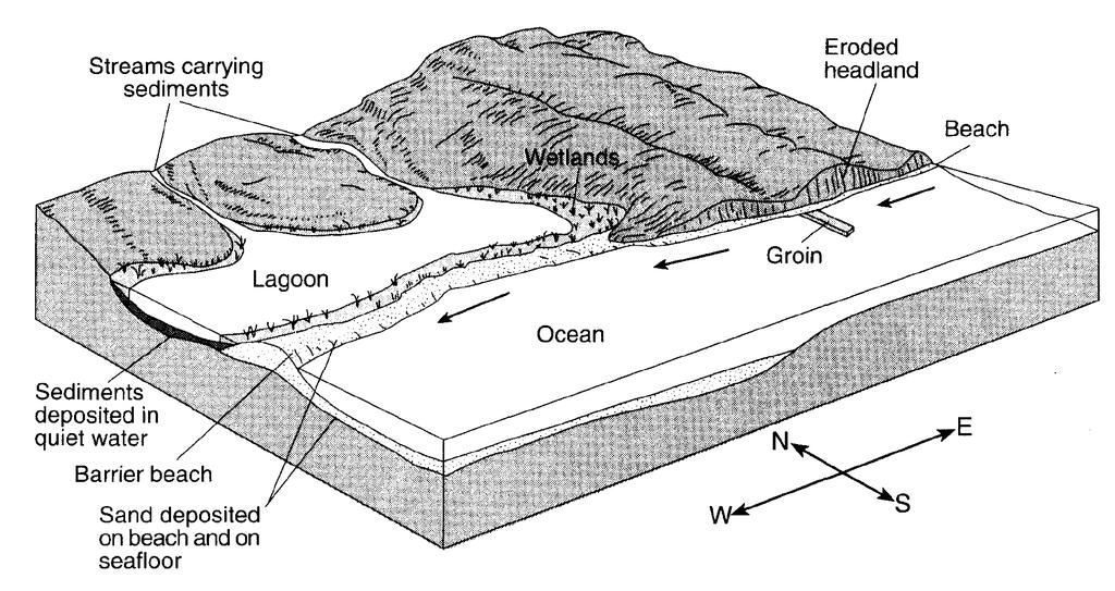 28. The diagram below shows a portion of a stream.