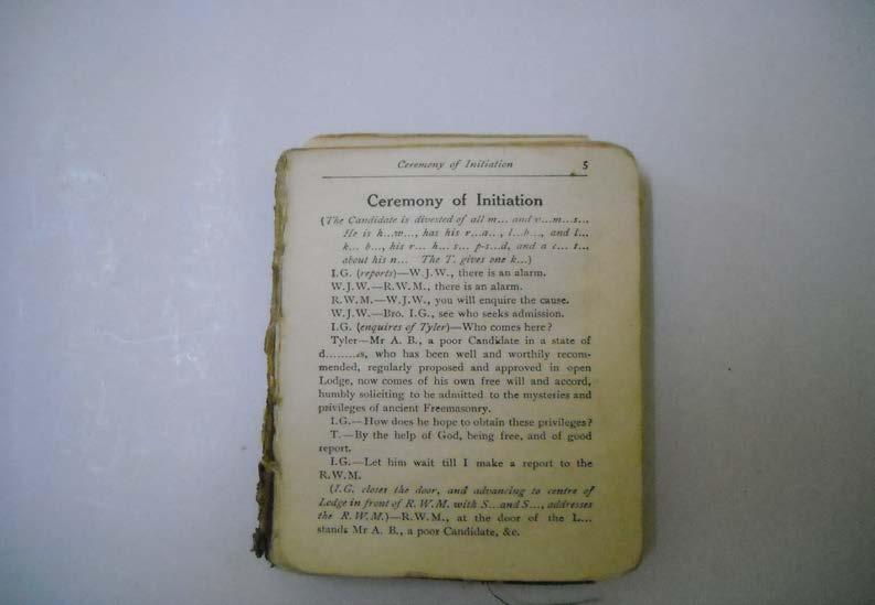 Plate 22: A Book of Ceremonies of Initiation -