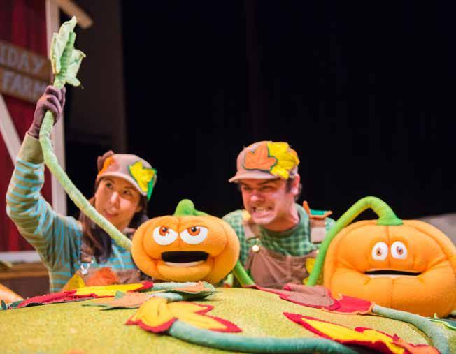 SPOOKLEY THE SQUARE PUMPKIN uses puppets You will see the puppets and actors at