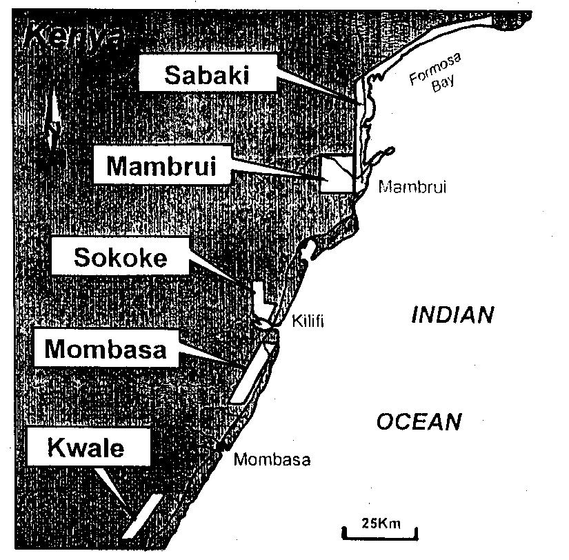 page 274 KENYA: ENVIRONMENTAL ASPECTS OF PAST AND EXPECTED COASTAL MINING