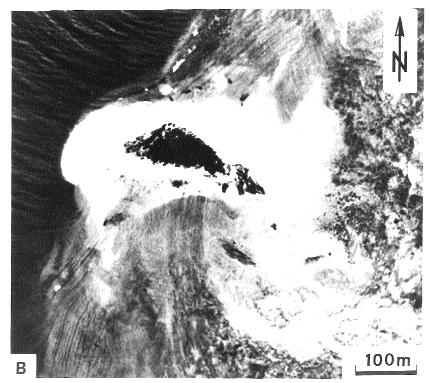 For further explanation see text and fig. 2. B) Maziwi Island in 1975.
