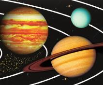 The planets farthest from the Sun are Jupiter, Saturn, Uranus, and Neptune.