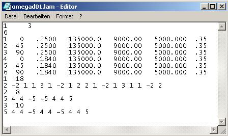 Figure 8-20: Typical.lam file for ESDUpac A0817 8.4.
