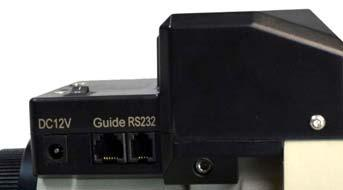 DO NOT plug your ST-4 guiding camera cable into this port as it may damage the mount or guide