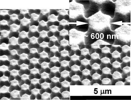 Microstructures generated using elastomeric membranes with microspheres embedded in the surface Figure 1a illustrates the