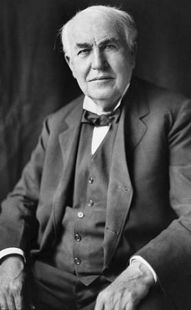 Edison was born in Ohio, and raised in Northern Michigan. He had poor hearing due to a serious illness, scarlet fever, when he was young.