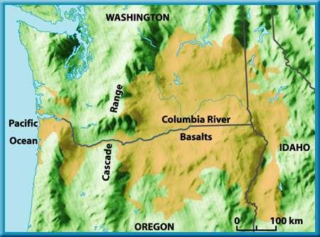 2 Volcanoes Fissure Eruptions The Columbia River Plateau in the northwestern United States was