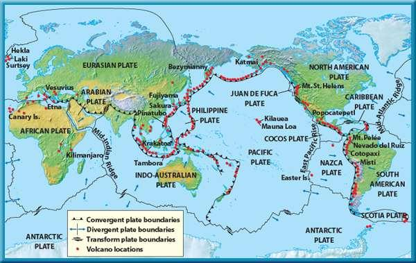 3 Earthquakes, Volcanoes, and Plate Tectonics Where Volcanoes Form A plot of the location of