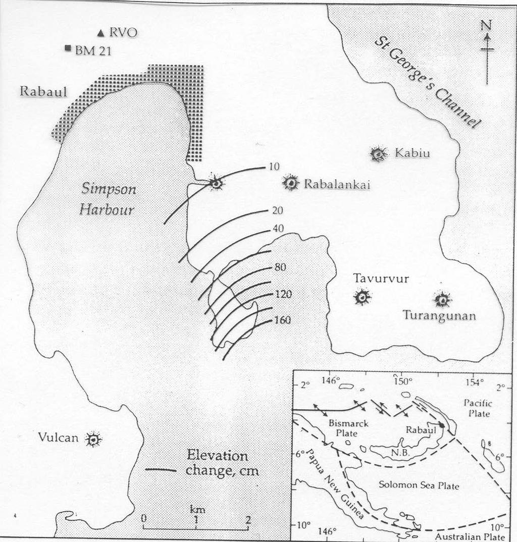 In 1971, the center of the caldera began to uplift (a potential sign of a forthcoming volcanic eruption).