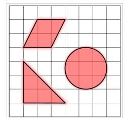 squares will fit into it Squares like this one: To make sure we have the idea of 2 dimensional space,