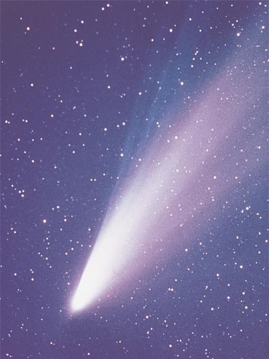 Comets Icy nucleus, which evaporates