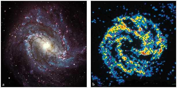 Spiral Galaxy M83 observed in both