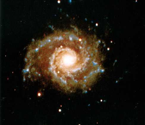 We easily see these spiral arms because they contain numerous bright O and B stars which