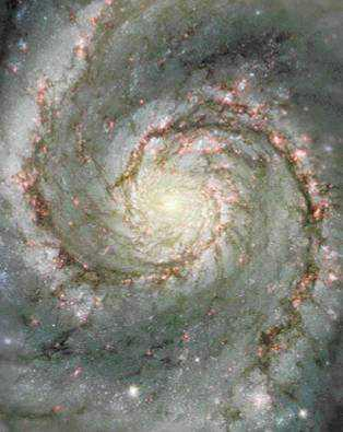 Spiral Structure Our Galactic disk does not appear solid.