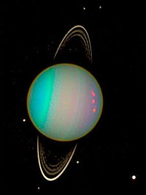 23.3 The Outer Uranus- Rotates on its side or parallel with the plane