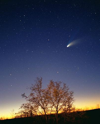 They have orbital periods of 3-6 years Comets are pieces of rocky and metallic materials held together by frozen gases,