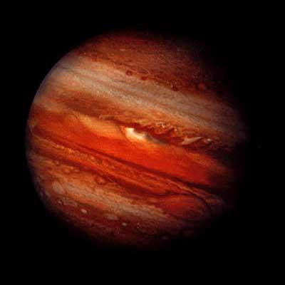 Jupiter-1/800 of the sun, Largest planet by far, If 10 times as big it would ignite into a star, 63 moons including the largest in the solar system (Ganymede) 23.