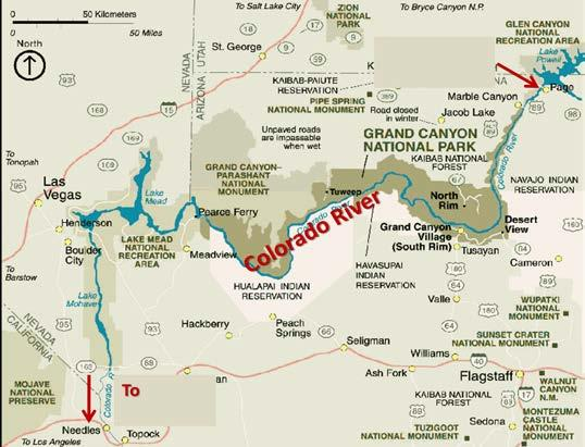 Where is the mouth of the Colorado River?