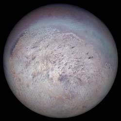 Neptune has at least 8 moons The primary satellites are: Moons of Neptune Name Distance Density Triton 14.3 2.1 g/cm 3 Nereid 223 2.