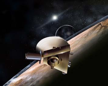 New Horizons mission (2006) Mysteries of the Outer Planets Why does Saturn have a spectacular ring? Could life exist on Saturn s moon Titan? How did Uranus end up so tilted?