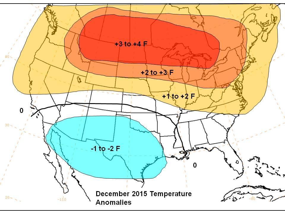 Maps December 2015 Temp Anomalies January 2016 Temp Anomalies December will likely be the warmest month of the 3.