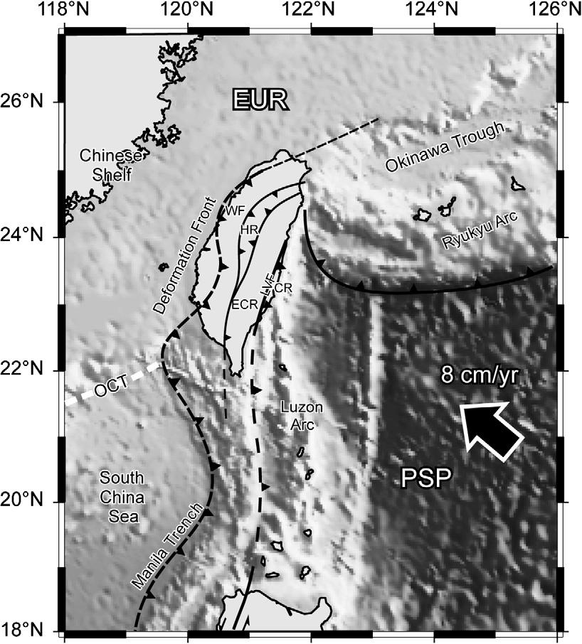 S. Castelltort et al. / Journal of Asian Earth Sciences 40 (2011) 52 71 53 Fig. 1. Geodynamic context of the collision in Taiwan.