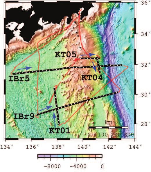 Multi-channel seismic reflection survey in the northern Izu-Ogasawara island arc - KR07-09 cruise volcanic arc by seismic stratigraphy using ODP data and seismic profiles.