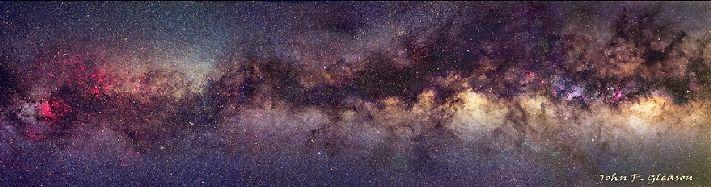The Milky Way Disk The Milky Way disk contains young to medium aged stars, a total of about 100 to 400 billion The disk also contains most of the gas and dust of the galaxy The disk is about 30 kpc