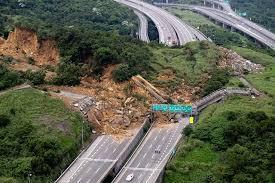 Mass Wasting Landslides and mudslides involve the downslope movement of large amounts of rock and soil,