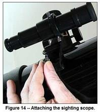 You probably will want to align the sighting scope during the daytime because it is easier.