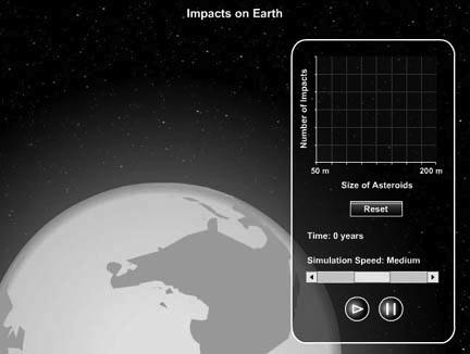 Impacts on Earth (SLIDESHOW MODE ONLY) New Terms radiant sporadic meteor fall find iron meteorite selection effect Widmanstätten pattern stony meteorite chondrite chondrule carbonaceous