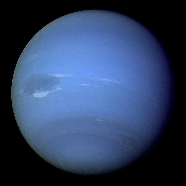Neptune also has rings, but you cannot see them from earth.