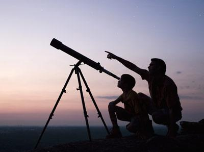 You would use a refracting telescope to see the planets and the