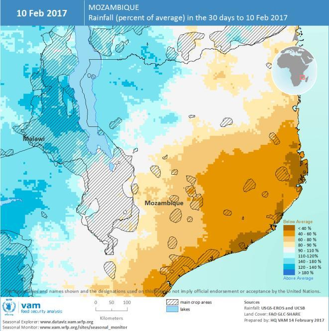 In contrast, southern provinces have seen extremely heavy rainfall.