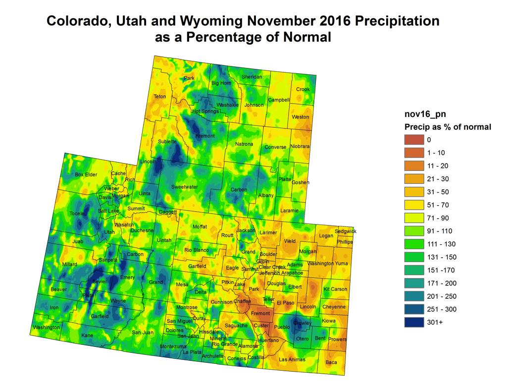 12/9/2016 NIDIS Drought and Water Assessment NIDIS Intermountain West Regional Drought Early Warning System December 6, 2016 Precipitation The images