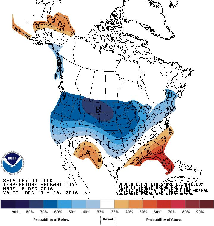 Outlook The top two images show Climate Prediction Center's Precipitation and