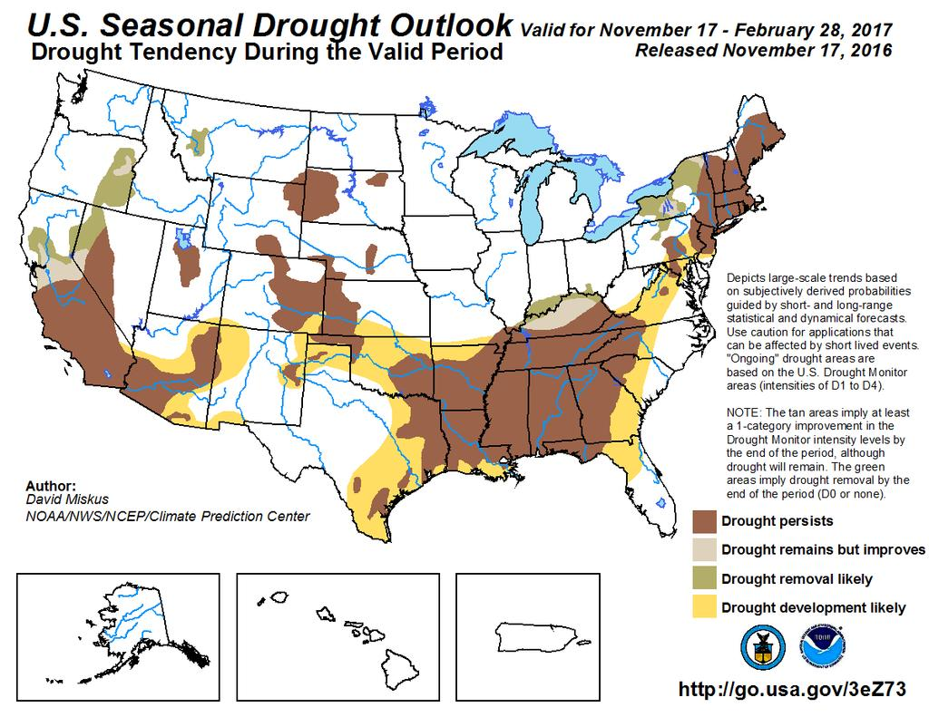 recent release of the U.S. Seasonal Drought Outlook.