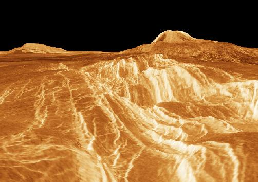 valley on the surface of Venus